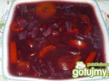 Zupa z czerwonej kapusty wg pigwy