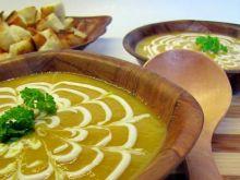 Zupa z dyni z grzaneczkami
