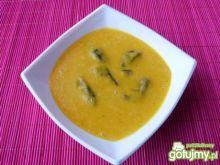 Zupa z dyni z leśnymi grzybami