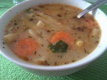 Zupa z fasolką szparagową i czubrycą czerwoną