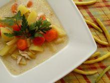 Zupa z fasolki szparagowej na słodko-kwaśno