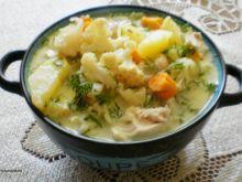 Zupa z głąba i liści kalafiora :