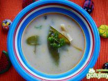 Zupa z groszku cukrowego i fasolki
