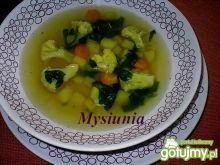 Zupa z kalafiorem i szpinakiem