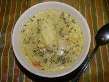 Zupa z kapusty na domowej vegecie i skrzydełkach