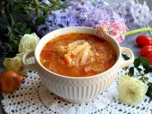 Zupa z kapusty pekińskiej z kaszą bulgur