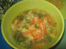Zupa z kaszą kuskus i makaronem