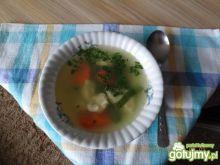 Zupa z lanym ciastem