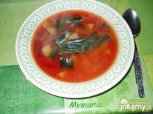 Zupa z młodą kalarepką