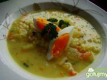 Zupa z młodej kalarepy i ryżu