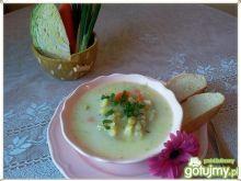 Zupa z młodej kapusty i fasolki szparag.