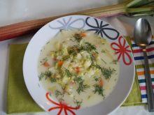Zupa z młodej kapusty z rabarbarem