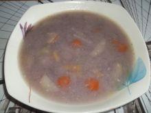 Zupa z modrej kapusty