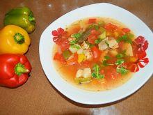 Zupa z papryką i schabem