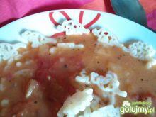 Zupa z pomidorów z dinozaurami