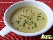 Zupa z pora i selera z kukurydzą