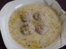 Zupa z pora z pulpecikami