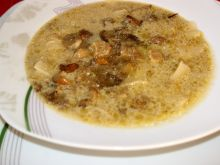 Zupa z prawdziwków z łazankami