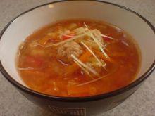 Zupa z pulpecikami.