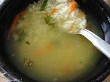 Zupa z ryżem i marchewką