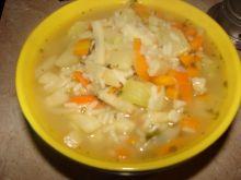 Zupa z ryżem i warzywami