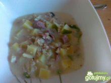 Zupa z salcesonu z ziemniakami i kaszą