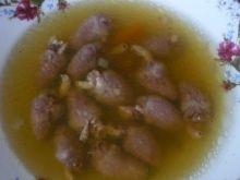 Zupa z serc drobiowych