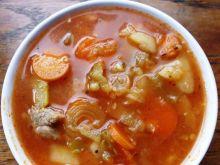 Zupa z soczewica i cukinia na pomidorowo