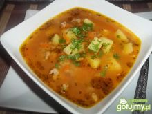 Zupa z soczewicą i mielonym mięsem