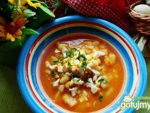 Zupa z soczewicy czerwonej z jajkiem