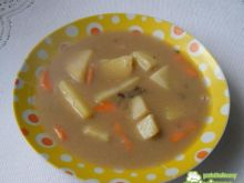 Zupa z suszonych grzybów z warzywami