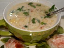 Zupa z Topinamburu z ziemniakami na bulionie