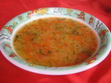 Zupa z warzywami i kasza manna