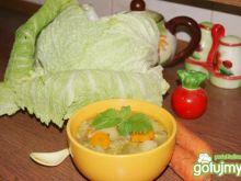 Zupa z włoskiej kapusty na kurczaku