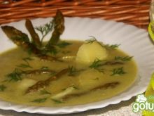 Zupa z zielonych szparagów z ziemniakami