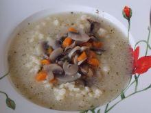 Zupa ze smażonymi pieczarkami