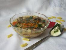 Zupa ze świeżych grzybów (z makaronem)