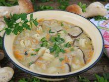 Zupa ze świeżych leśnych grzybów