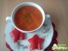 Zupa ze świeżych papryk z kluseczkami