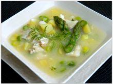 Zupa ze szparagami i dorszem