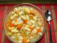 Zupa ze szparagami i młodymi ziemniakami