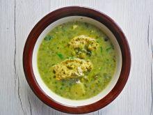 Zupa ze szpinakiem i groszkiem