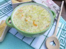 Zupa ziemniaczana z kaszą jaglaną