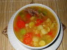Zupa ziemniaczana z soczewica na indyku