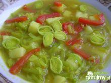 Zupa ziemniaczano-porowa z papryką