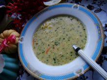 Zupa ziemniaczano szpinakowa
