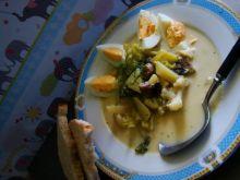 Zupka kalafiorowo- brokułowa z pieczarkami