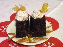 Żurawinowe lody w czekoladowych kieliszkach