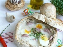 Żurek w chlebie własnego wypieku
