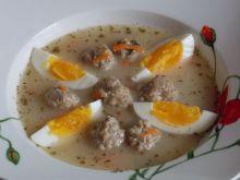 Żurek z pulpecikami i jajkiem